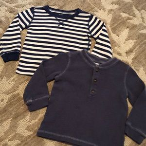 Two 18 month carters long sleeve shirts